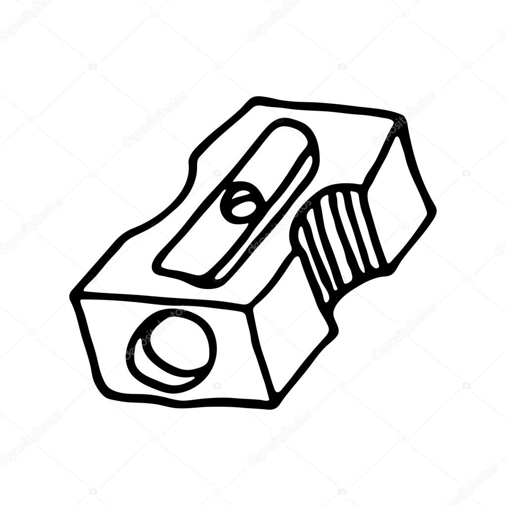 Pencil Sharpener Icon Outlined