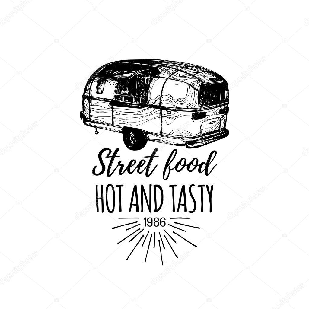 Street Fast Food Truck Logo