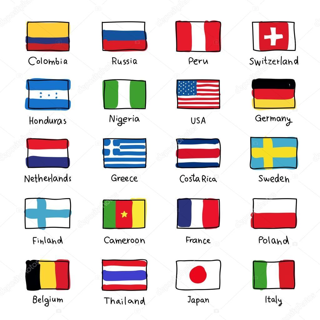 Ikony Flag Ro Nych Krajow