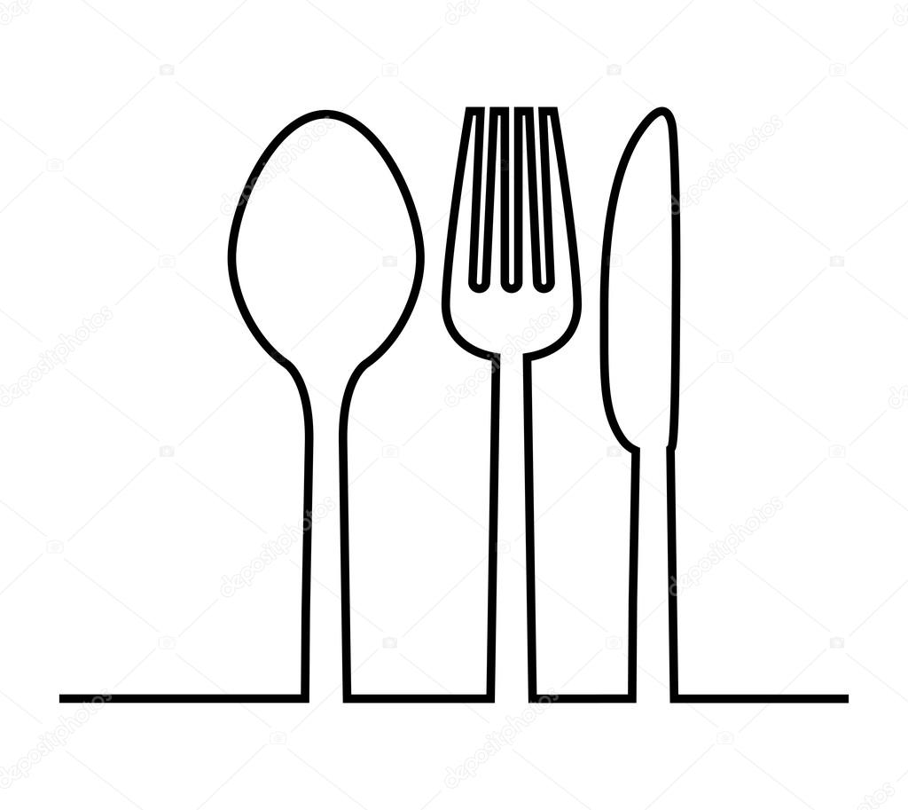 Fork Knife And Spoon Icon Cutlery And Menu Vector