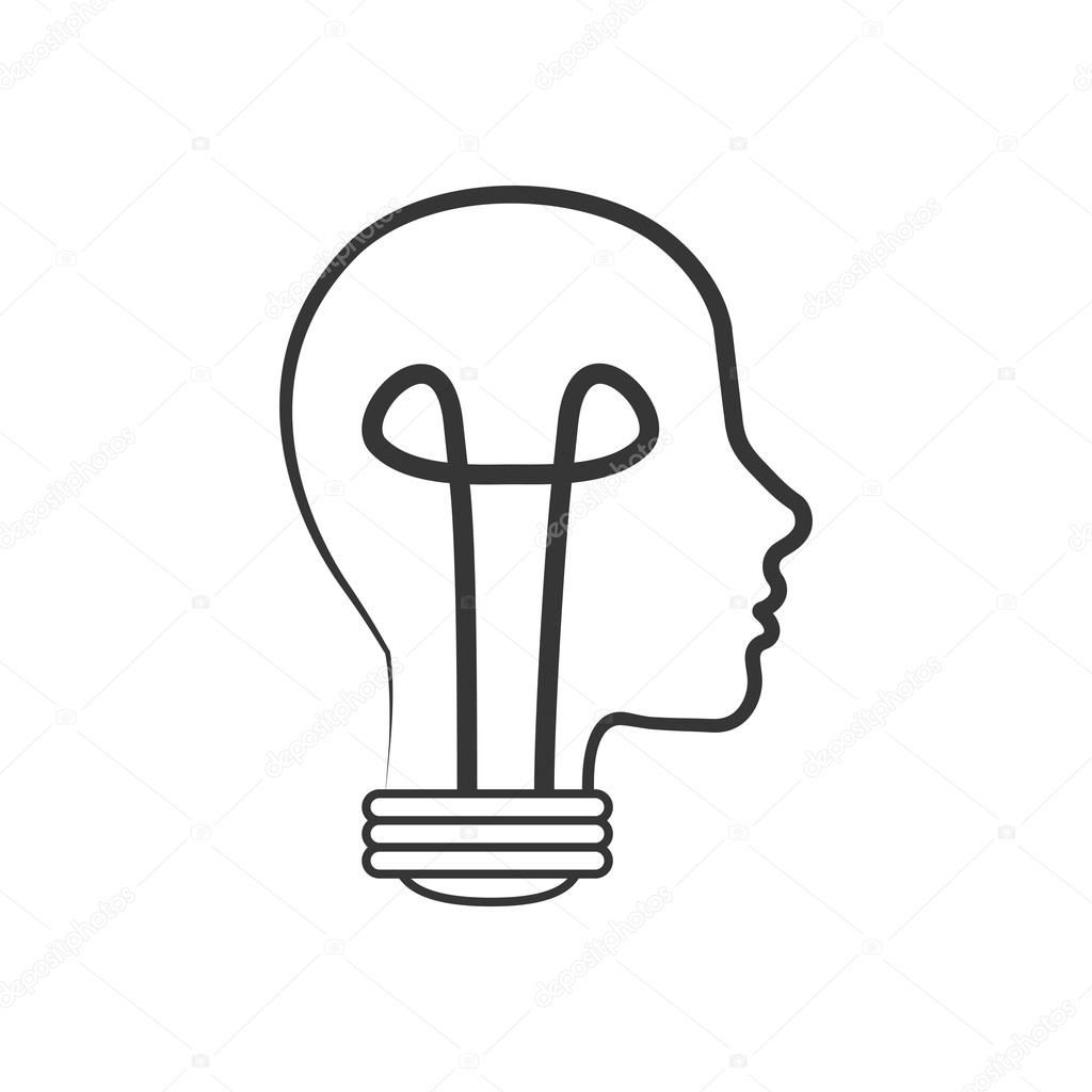 Light Bulb Head Big Idea Creative Icon Vector Graphic