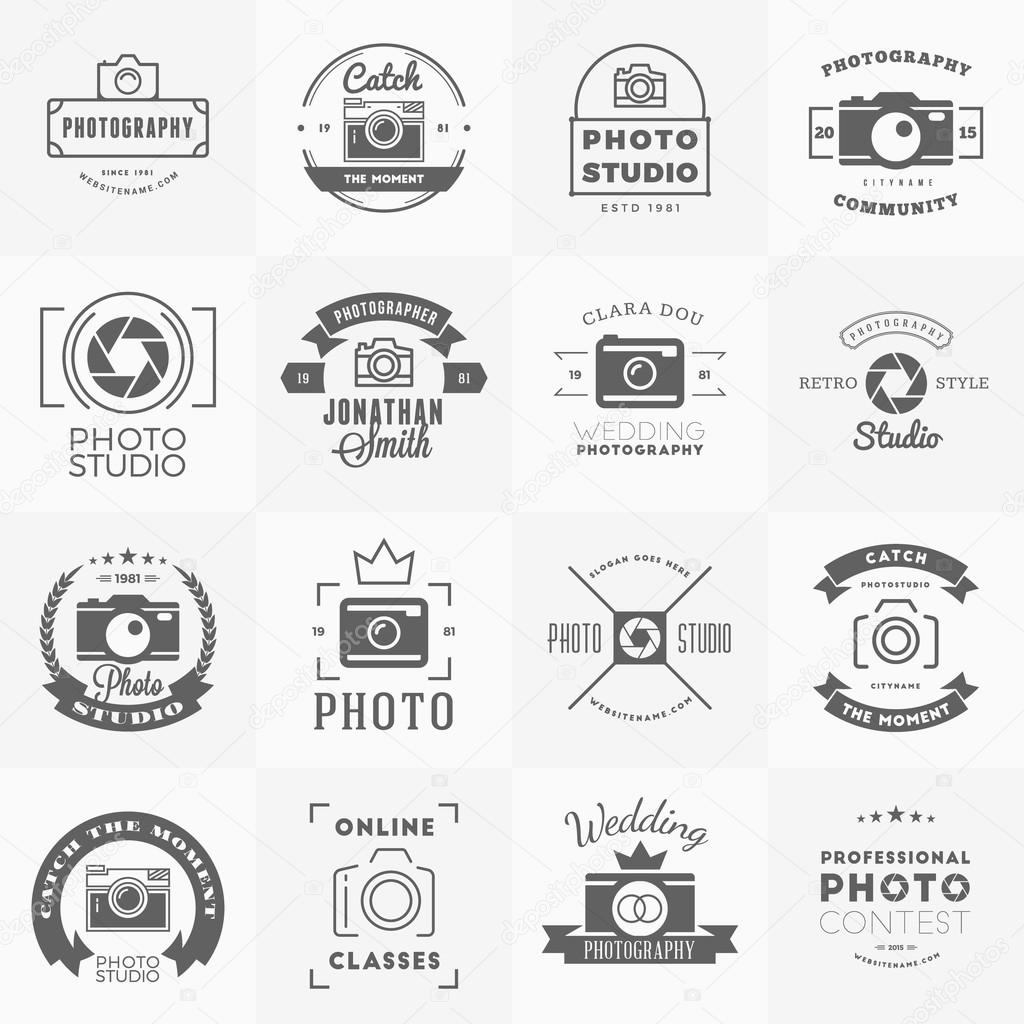 Vector Set Of Photography Logo Design Templates