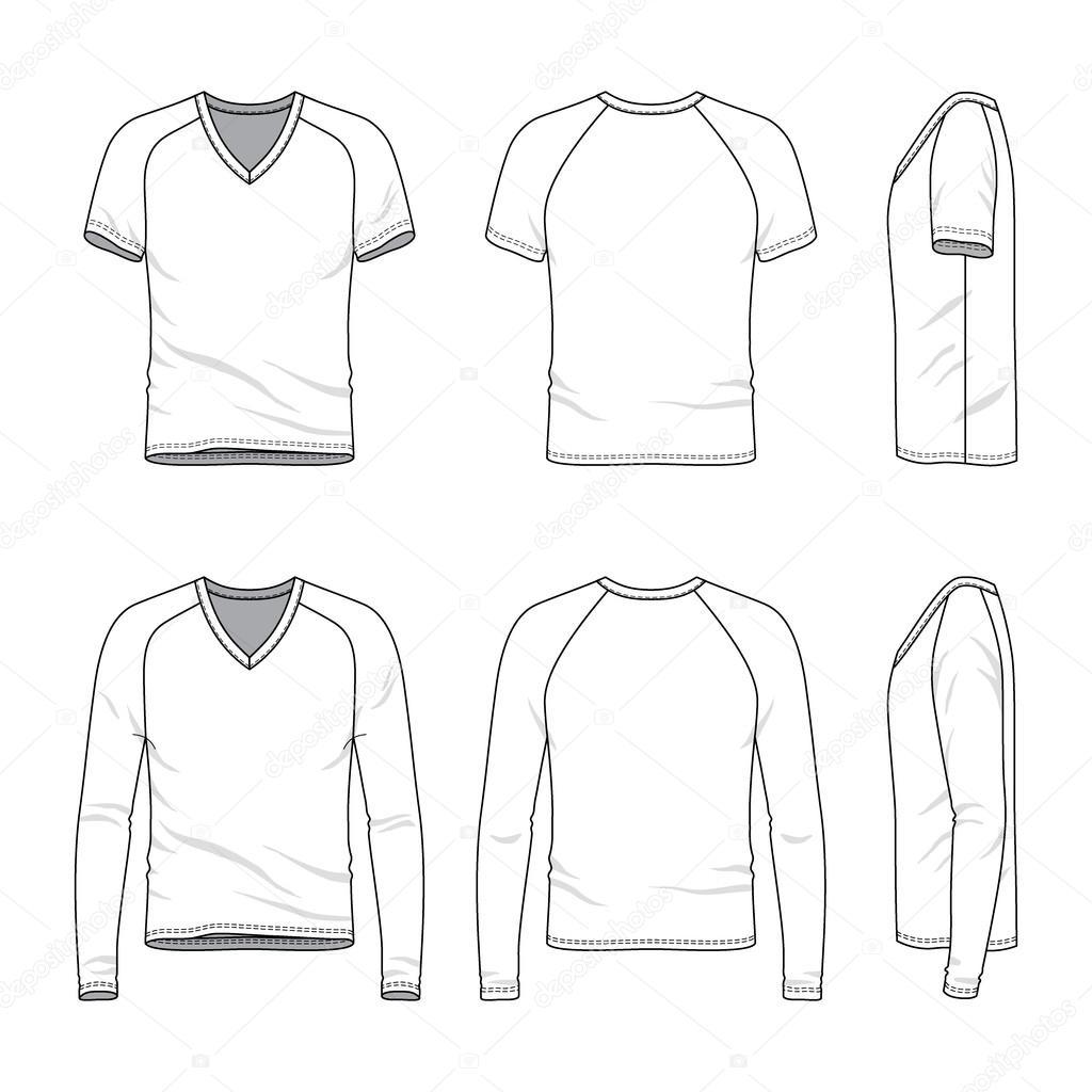Blank T Shirt Con Scollo A V E T Shirt