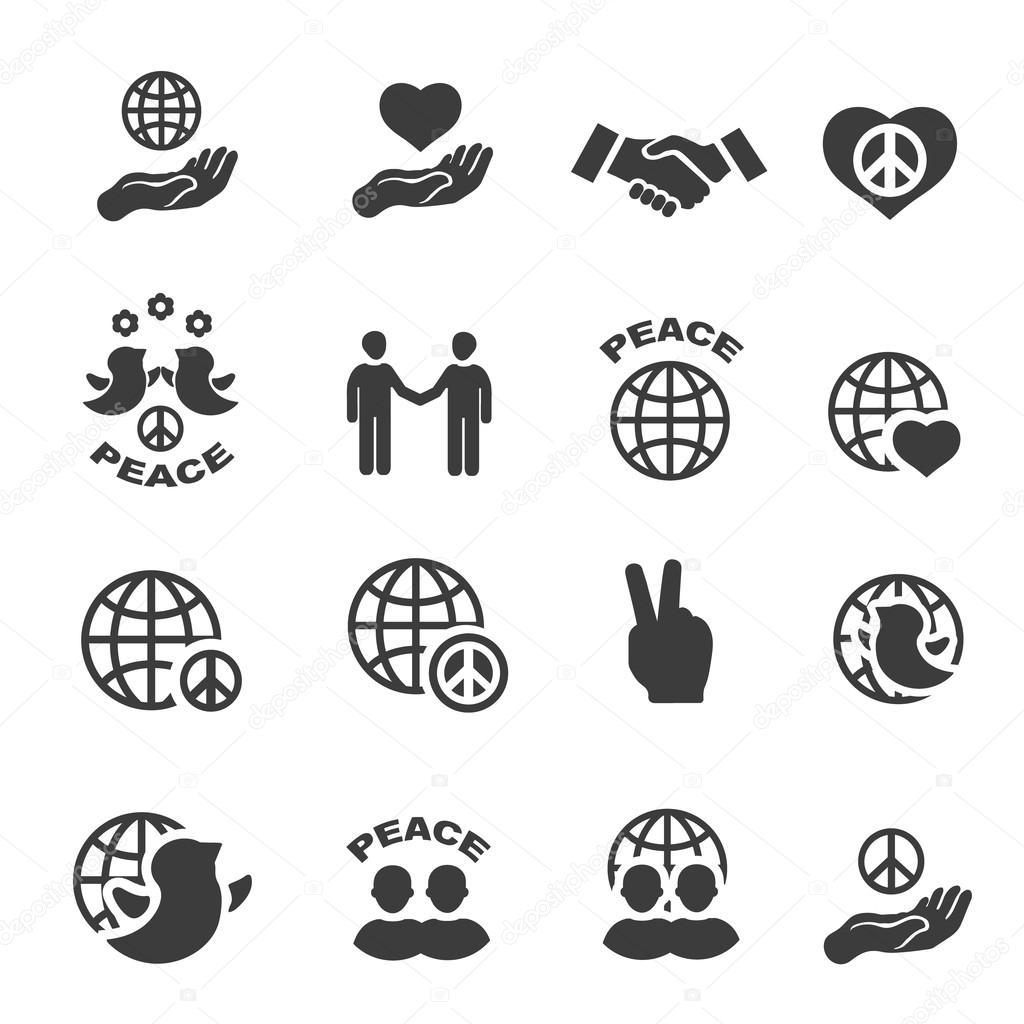 Vrede Pictogrammen Instellen Symbolen