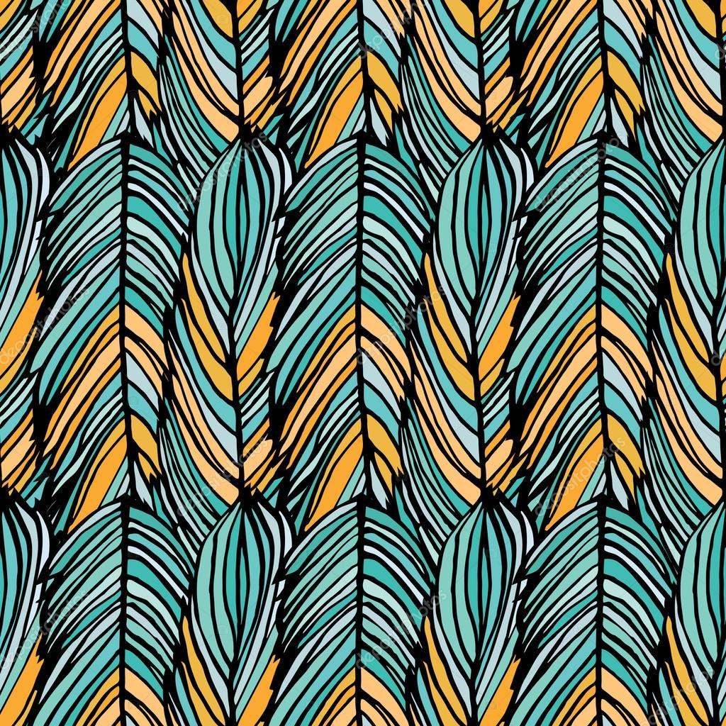 Abstract Feather Pattern
