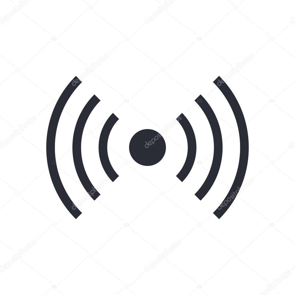 Wifi Wireless Signal Icon Radio Waves Symbol Vector