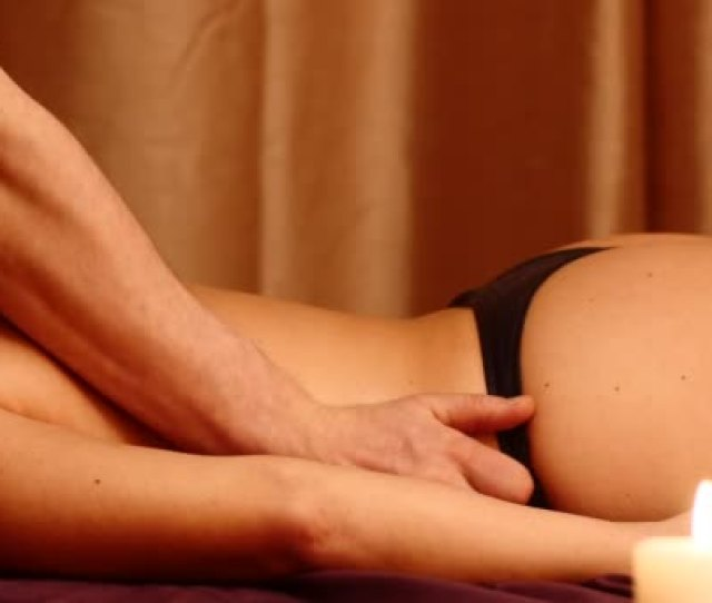Man Making Erotic Massage For Woman Stock Video