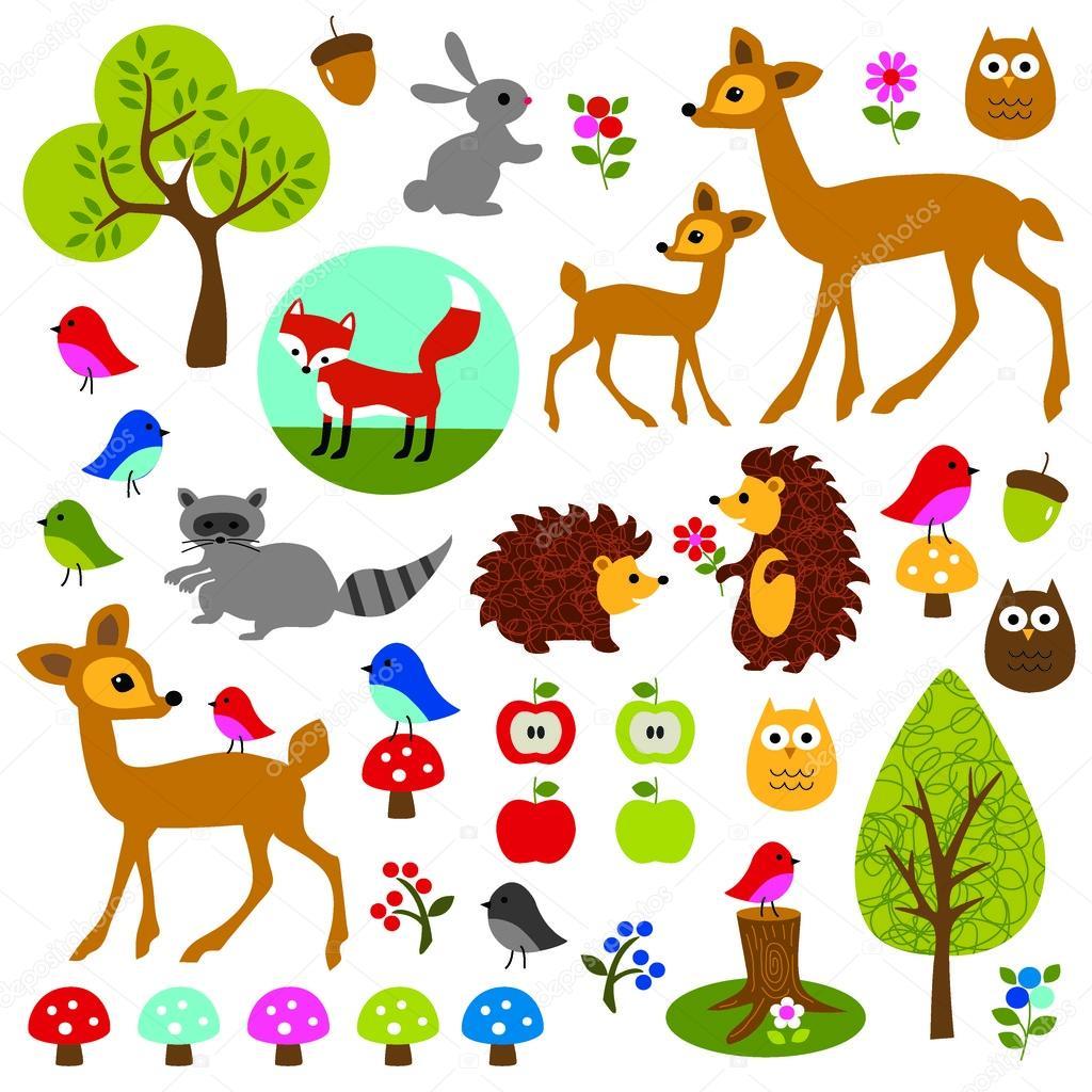 Clipart Woodland Animals Clip Art