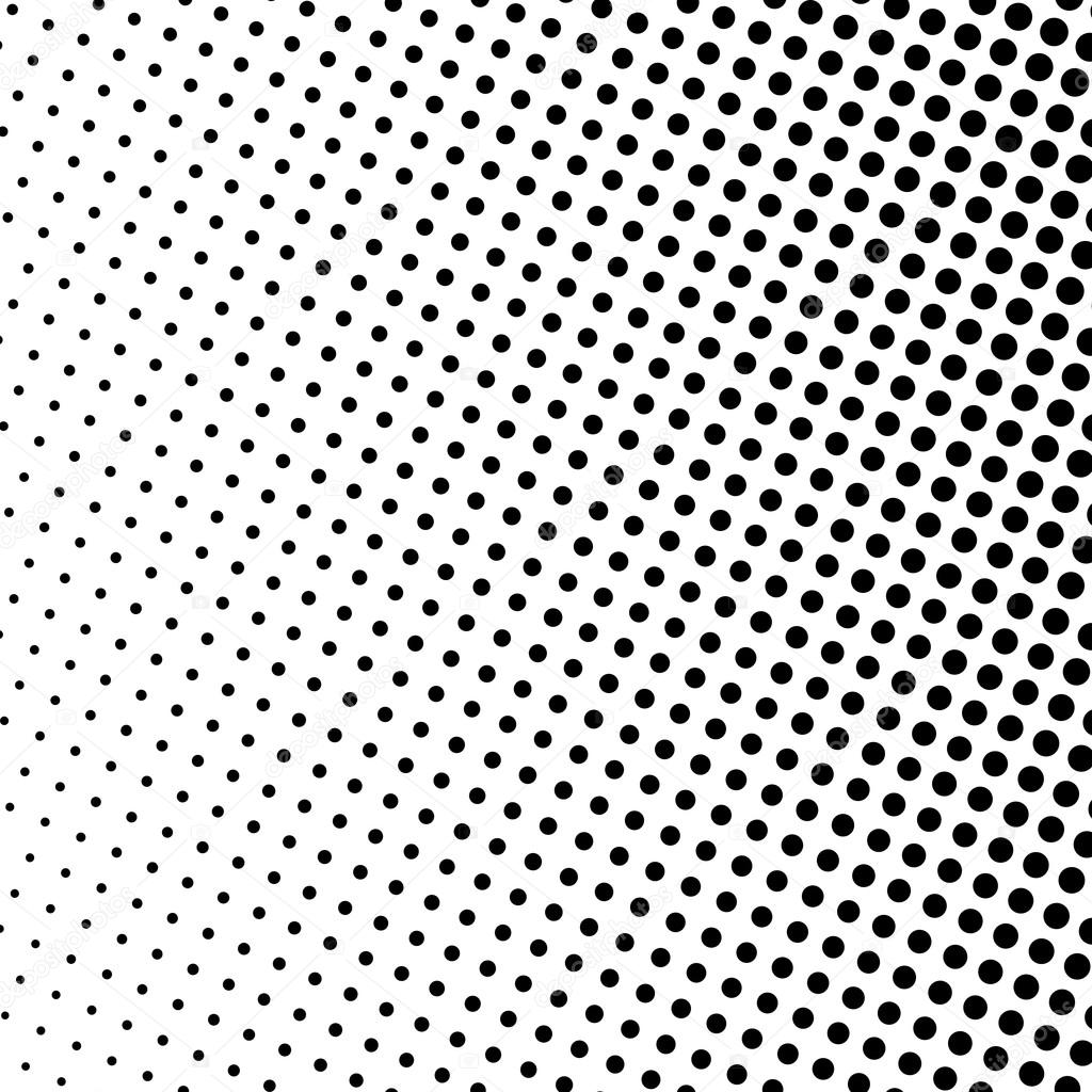 Black Dots On A White Background Pop Art