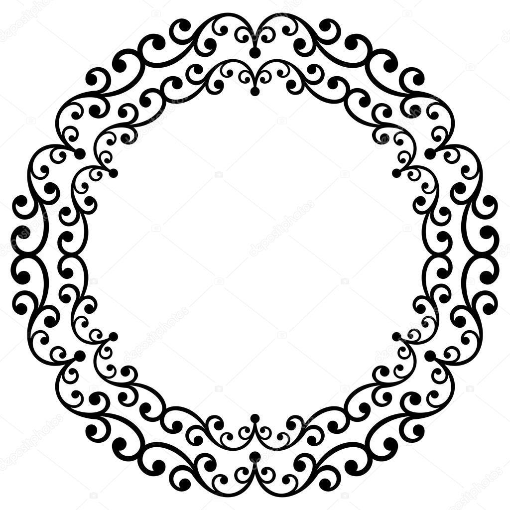 Floral Modern Round Frame