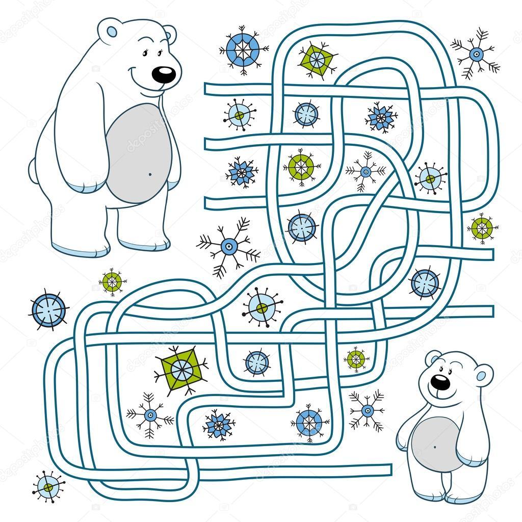 Maze Game Polar Bears