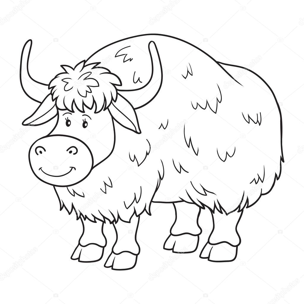 Coloring Book Yak