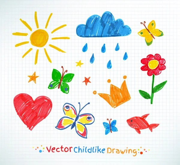 Áˆ Of Kids Stock Pictures Royalty Free Kids Drawing Drawings Download On Depositphotos