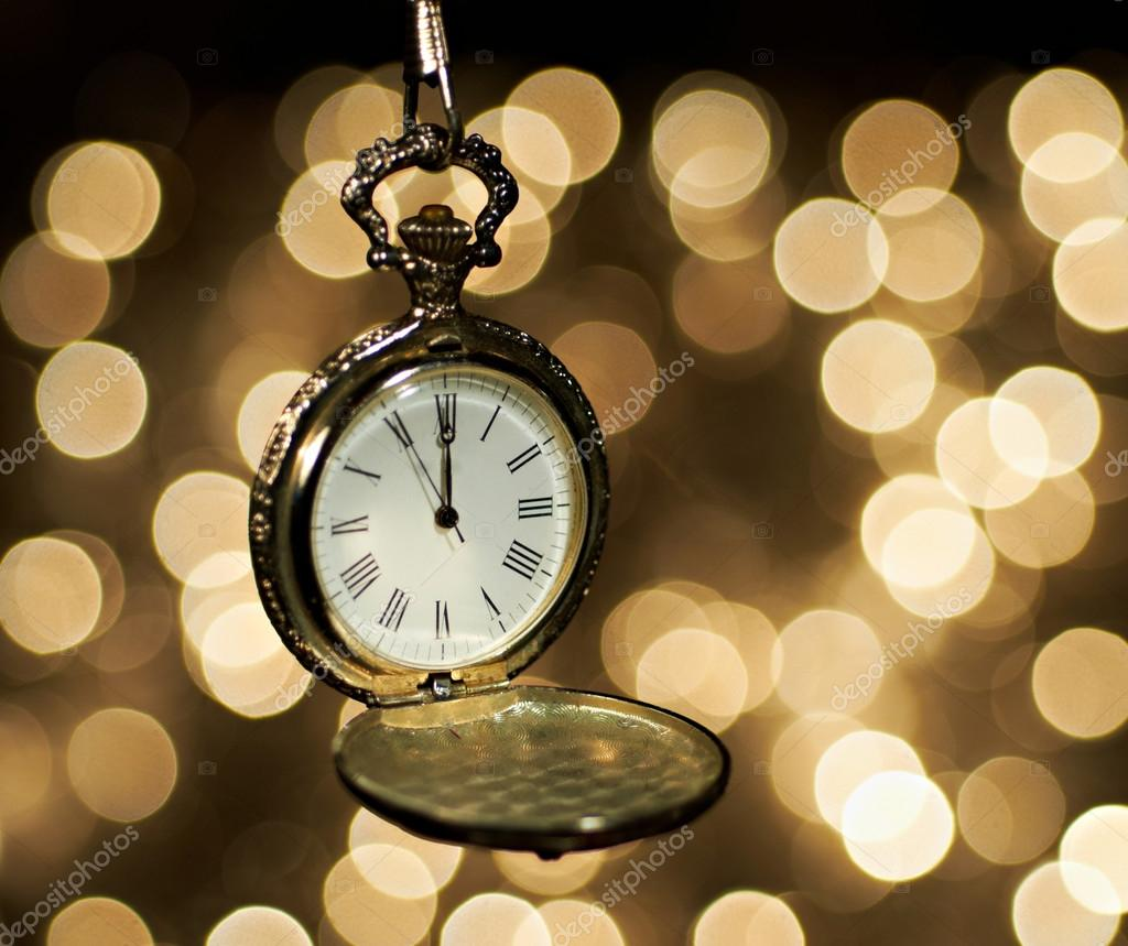 New year clock at midnight     Stock Photo      markop  54140639 New year clock at midnight     Stock Photo