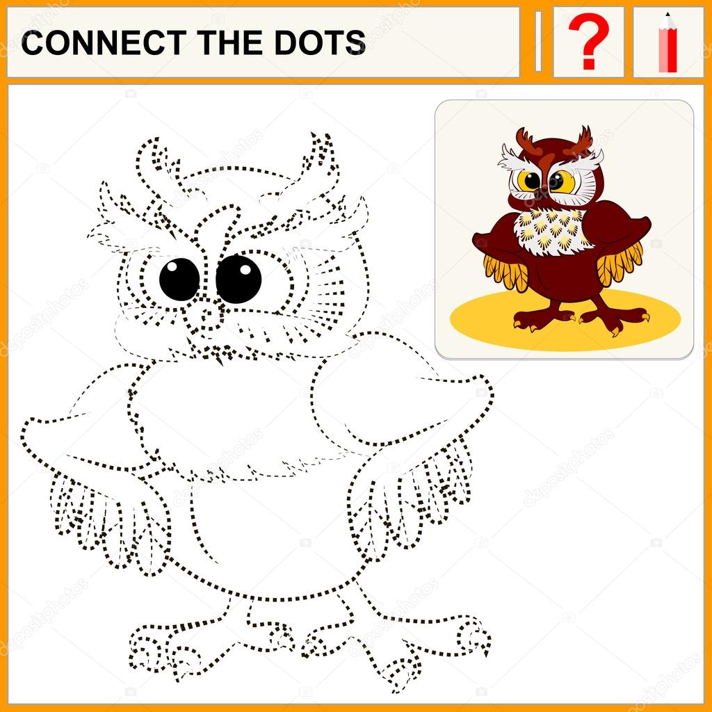 Connect The Dots Preschool Exercise Task For Kids Cute
