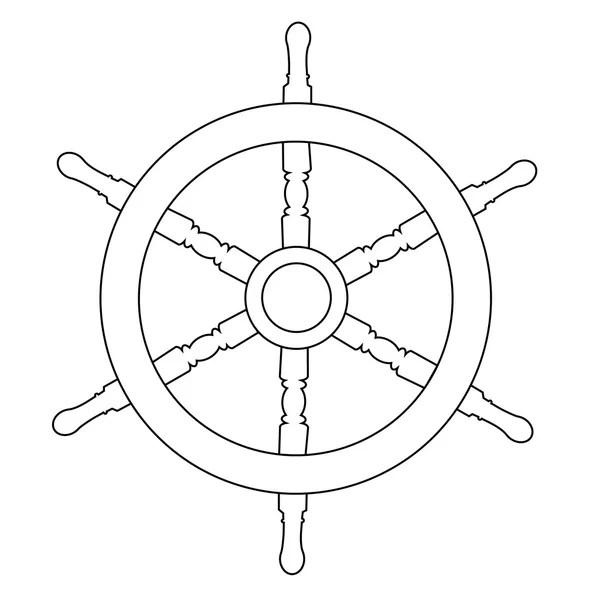 Ship Wheel Outline Drawings Stock Photo Viktorijareut