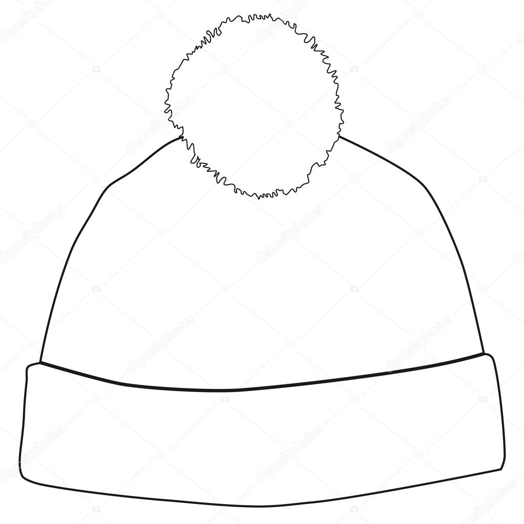 Winter Hat Outline Drawings