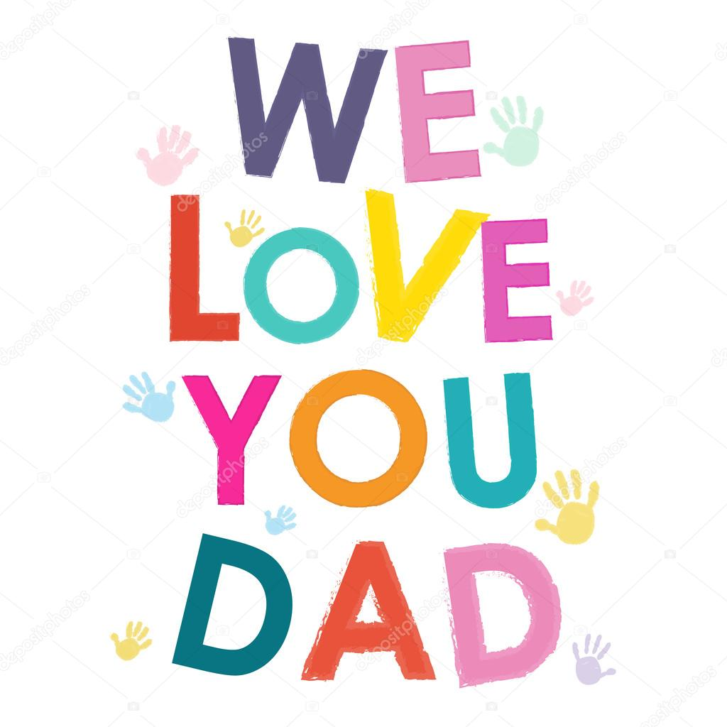Download We love you dad happy father's day card — Stock Vector ...