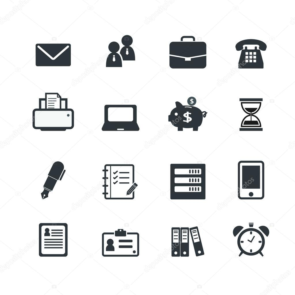 Office Work Workplace Business Financial Web Icons