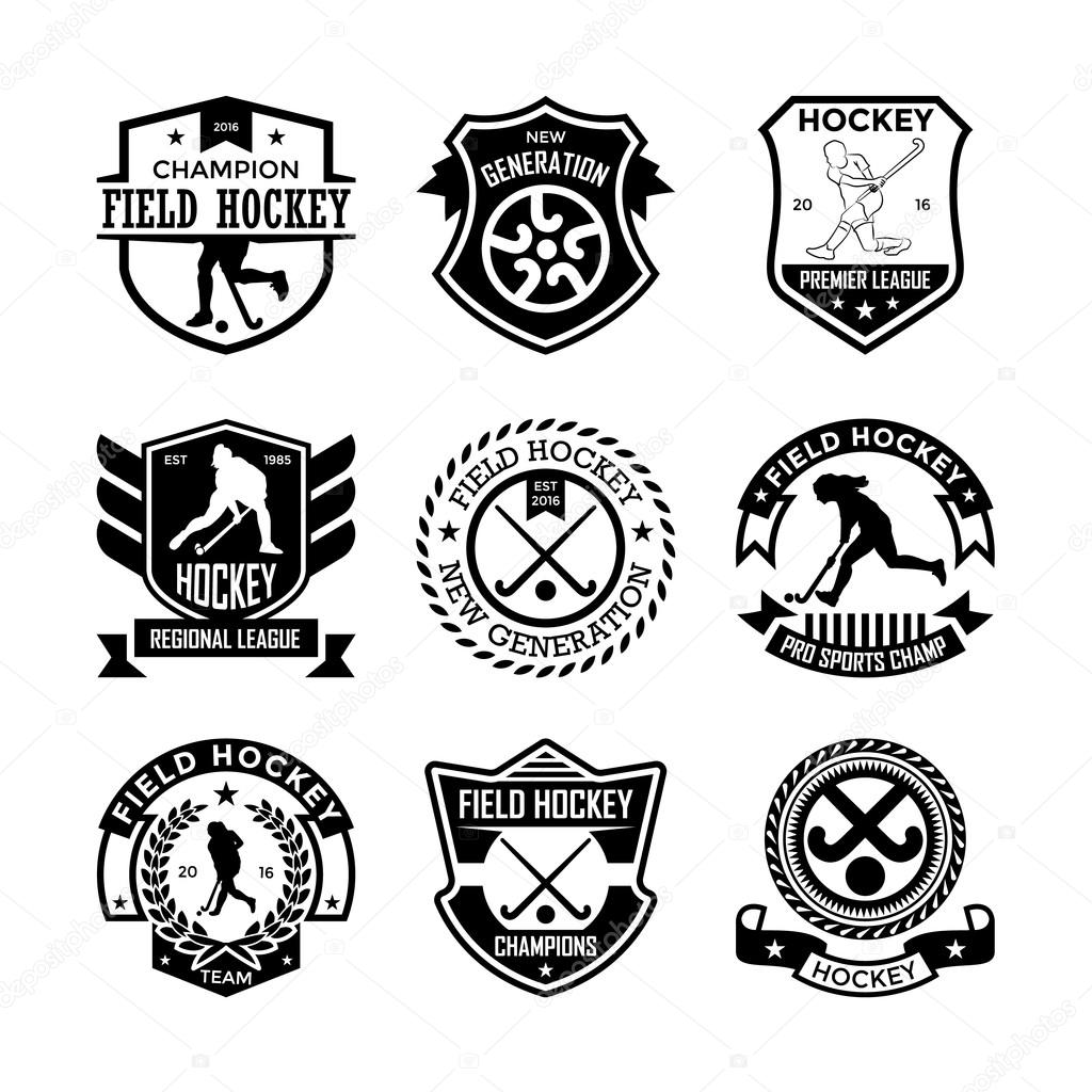 Field Hockey Vector Icons 14