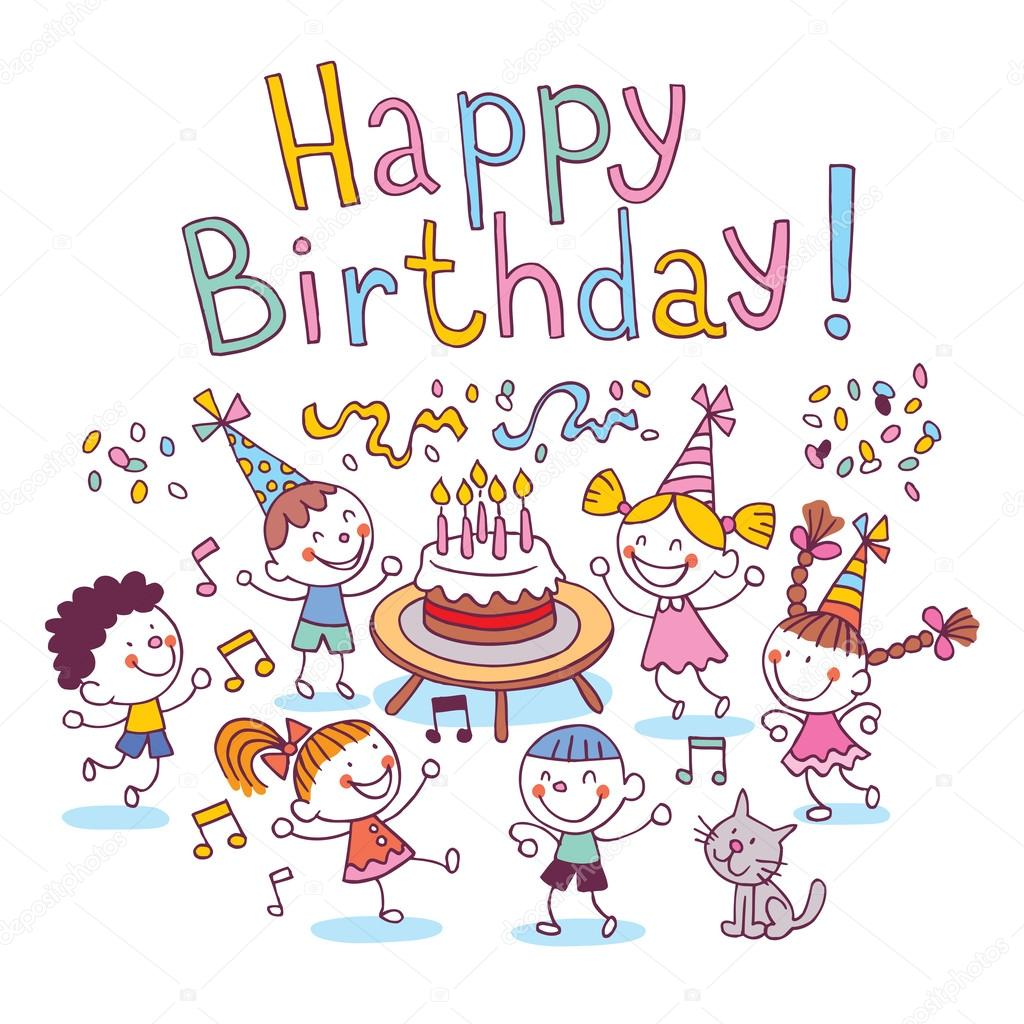 Happy Birthday Kids Vector Image By C Aliasching Vector Stock 58876687