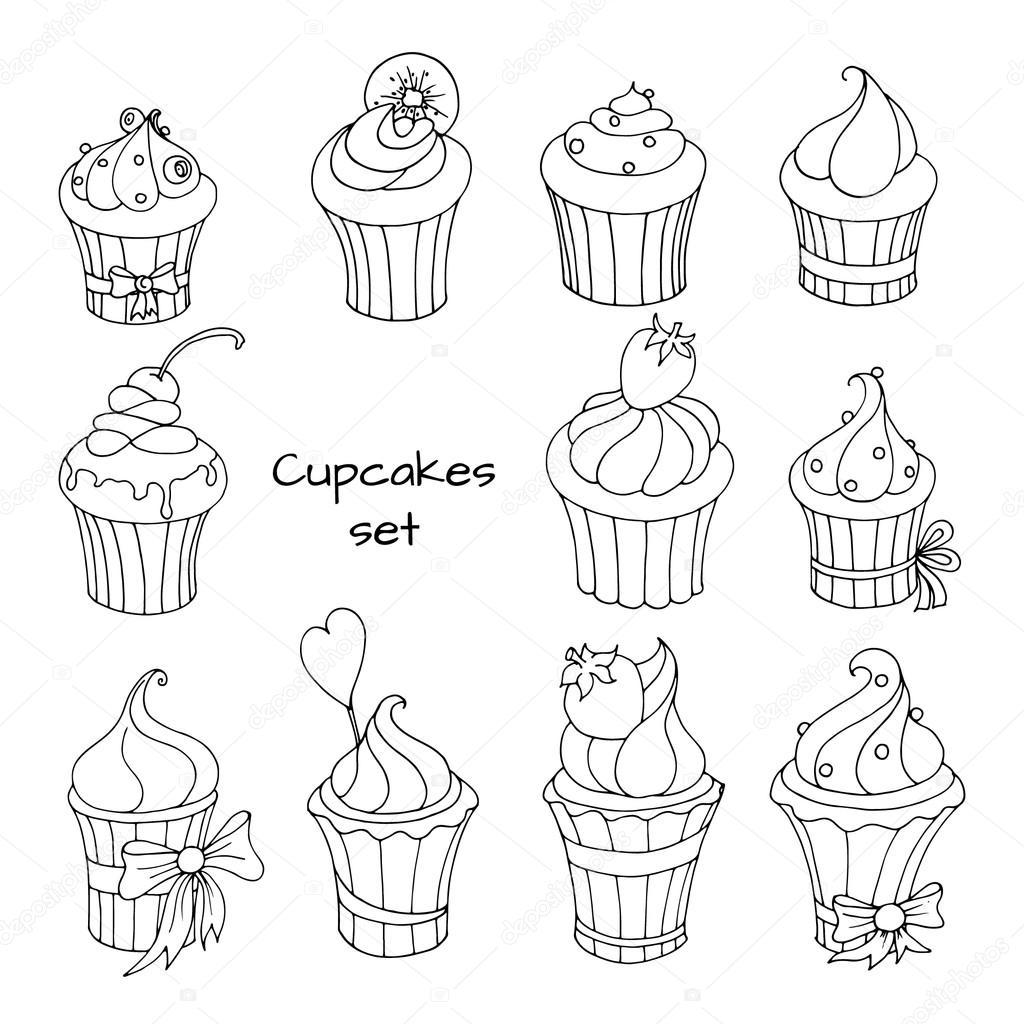 Cute Cupcake Kleurplaat Leuk Voor Kids