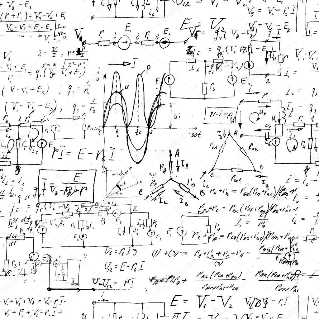Seamless Endless Pattern Background With Handwritten