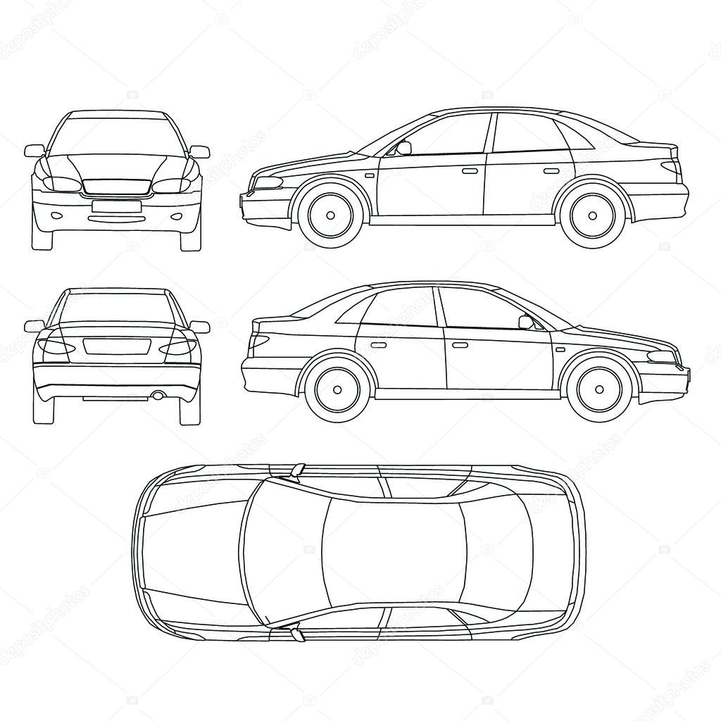Car Line Draw Insurance Rent Damage Condition Report