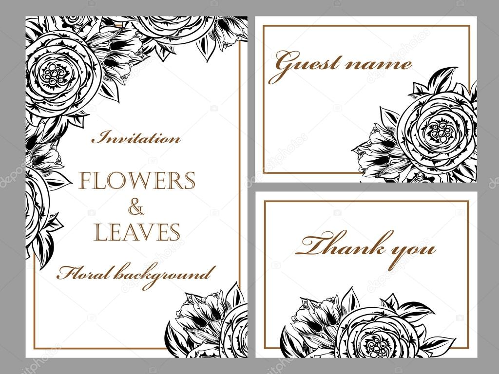 https de depositphotos com 109319610 stock illustration black and white wedding invitation html