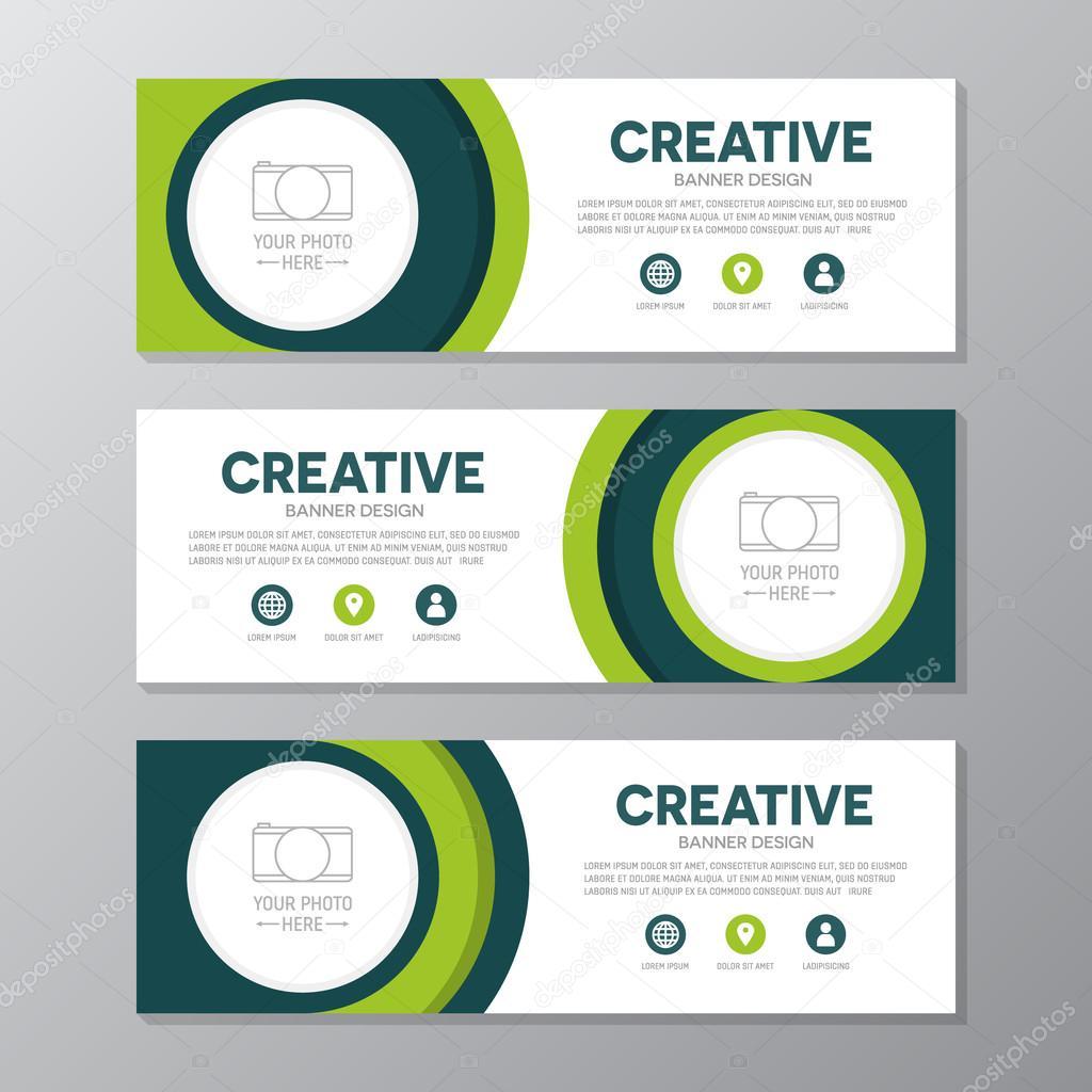 Green Corporate Business Banner Template Horizontal