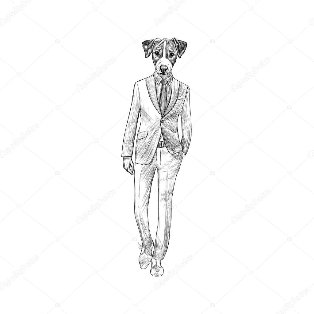 Skizze Des Jack Terrier