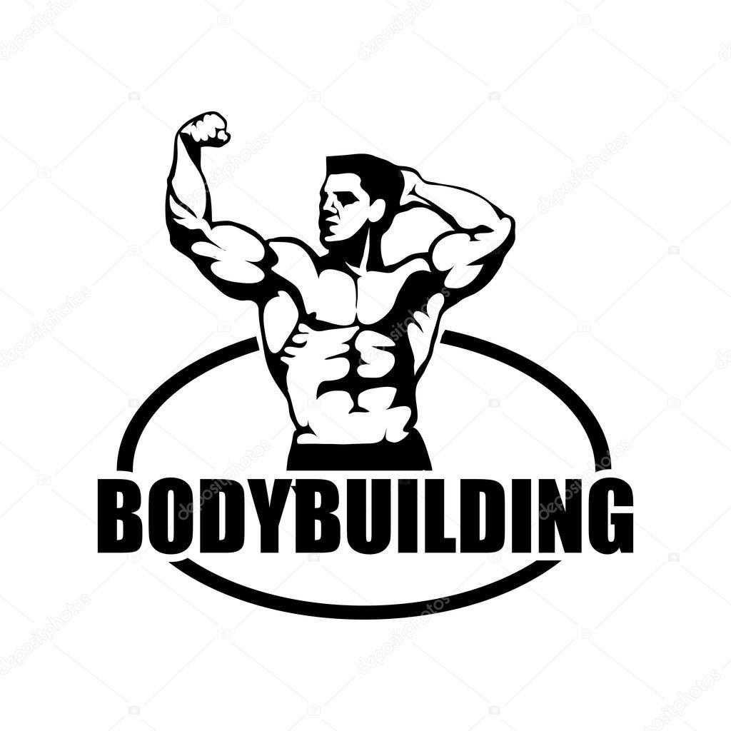 Bodybuilder Fitness Logo