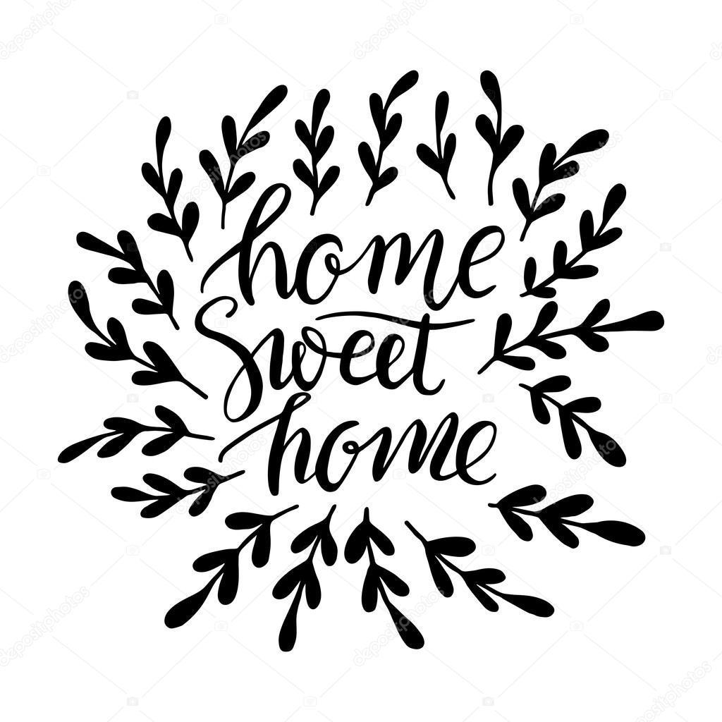 Napis Domov Sladk Domov