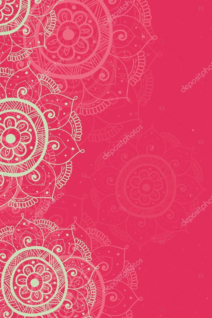 wedding card background red