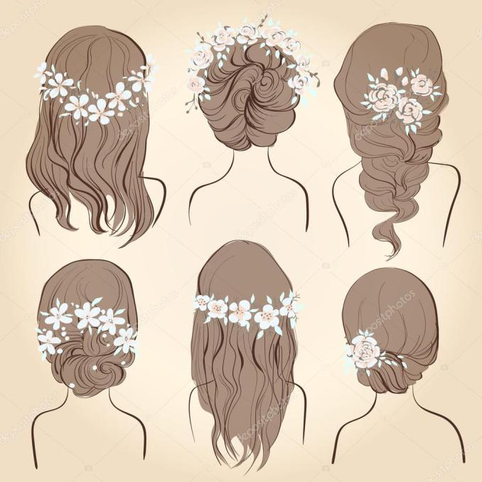 wedding vintage hairstyles | set of different vintage style