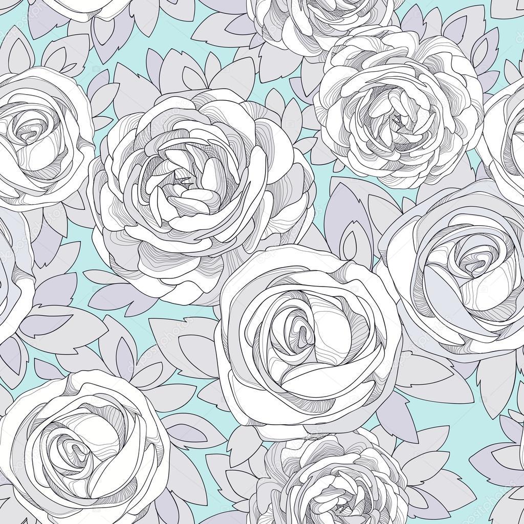 Illustration Vintage Rose Wallpaper Vintage Rose Wallpaper Stock Vector C Dozy Dreamer 66401087