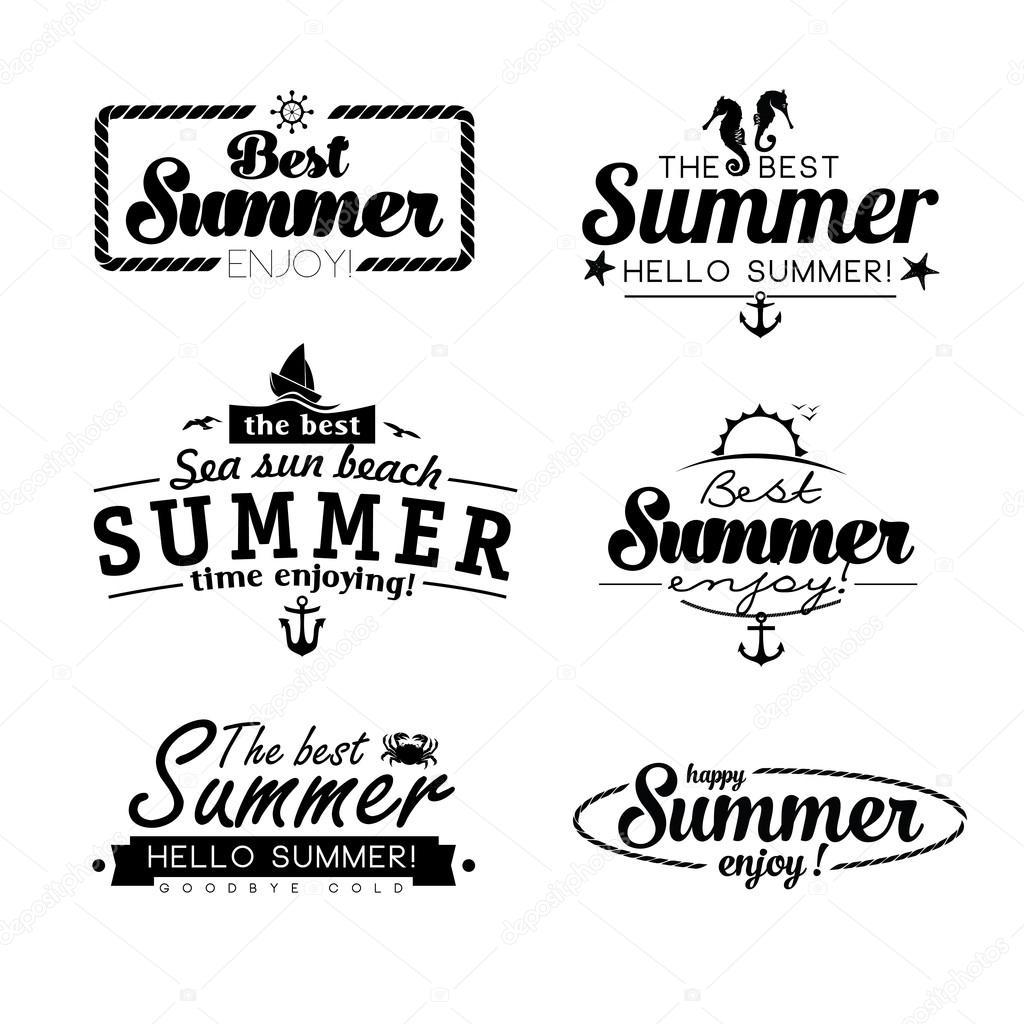 Abstract Beach Summer Logo Design Template