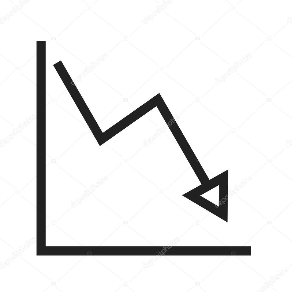 Declining Line Graph Icon