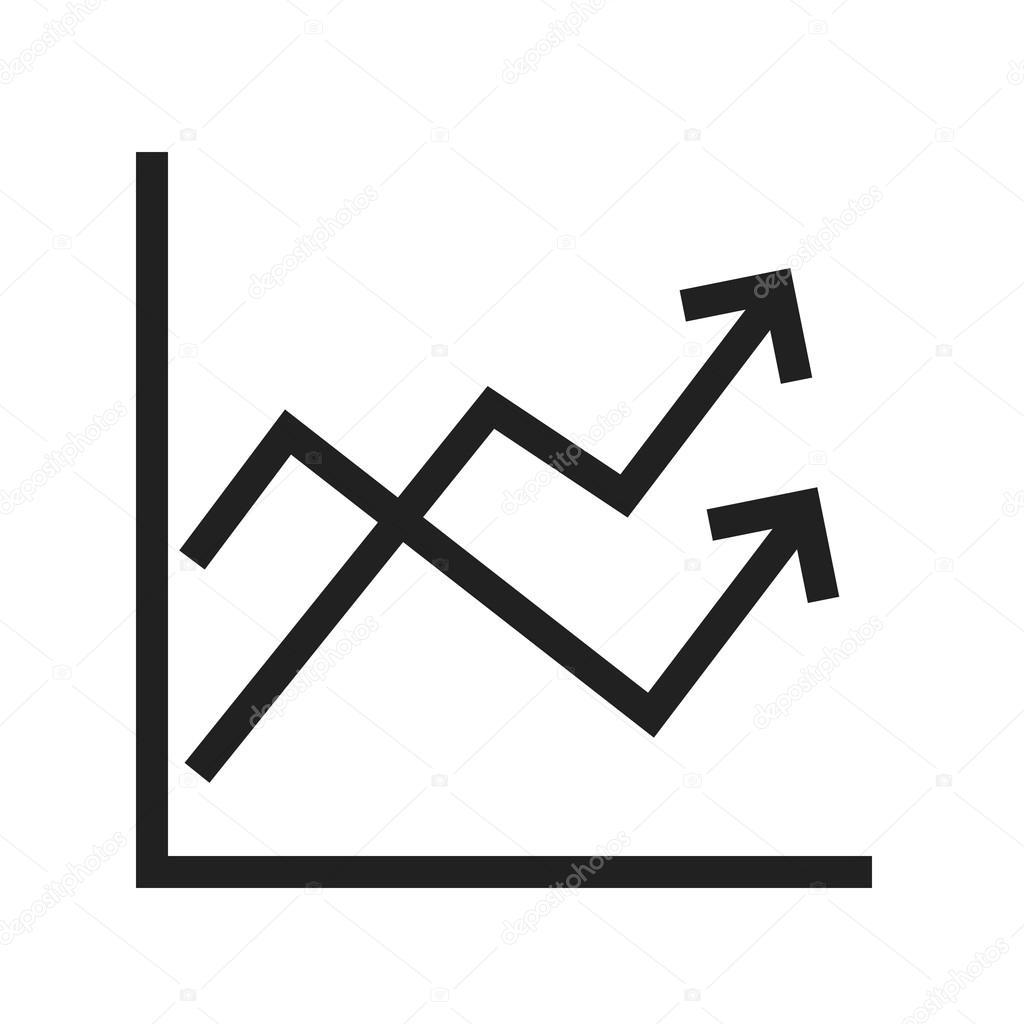 Multiple Line Graph Icon
