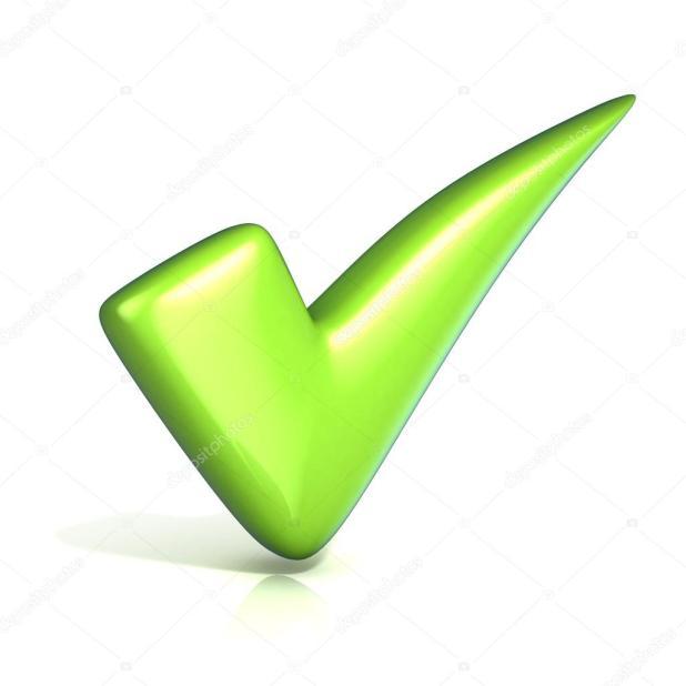 Marca de verificación verde de correcto — Fotos de Stock
