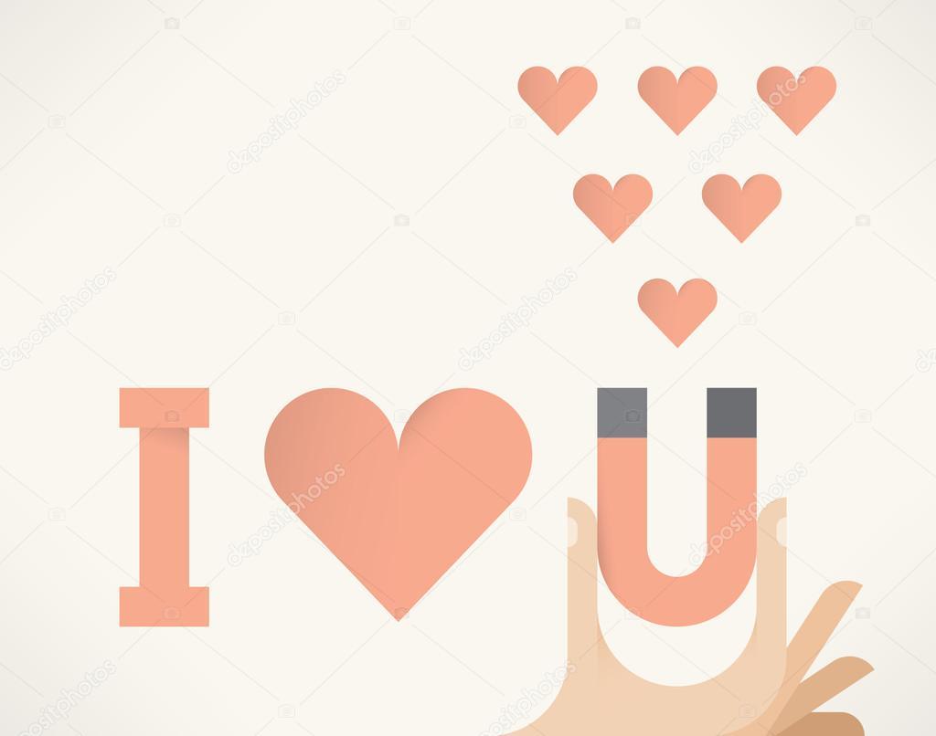 I Love You Words Letter U