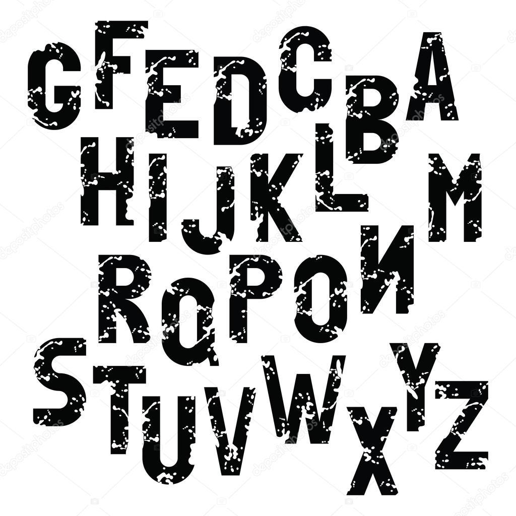 Alphabet English Alphabet Letters Black And White
