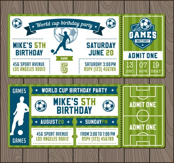 birthday invitation football vectors