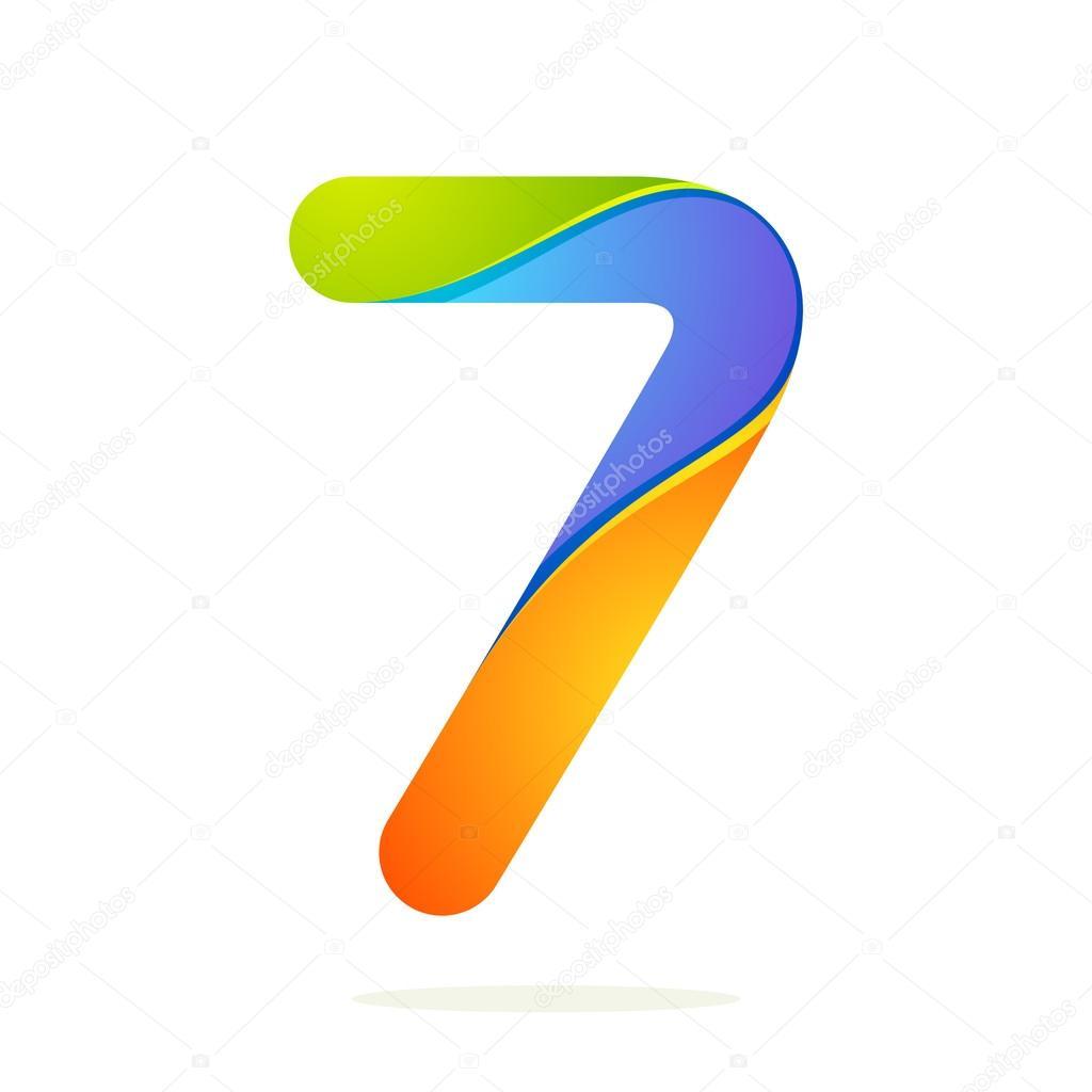 Number 7 Design Template