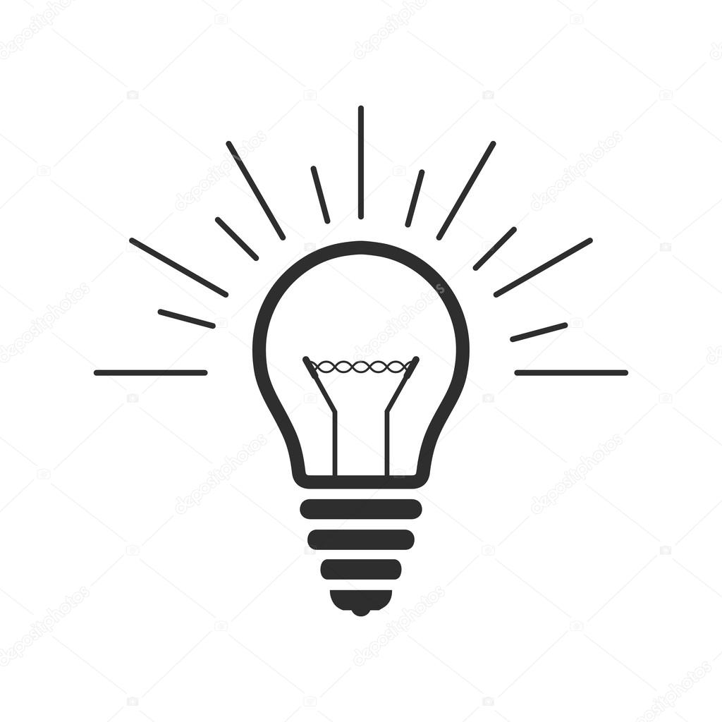 Vektor Gluhbirne Ubersicht Symbol