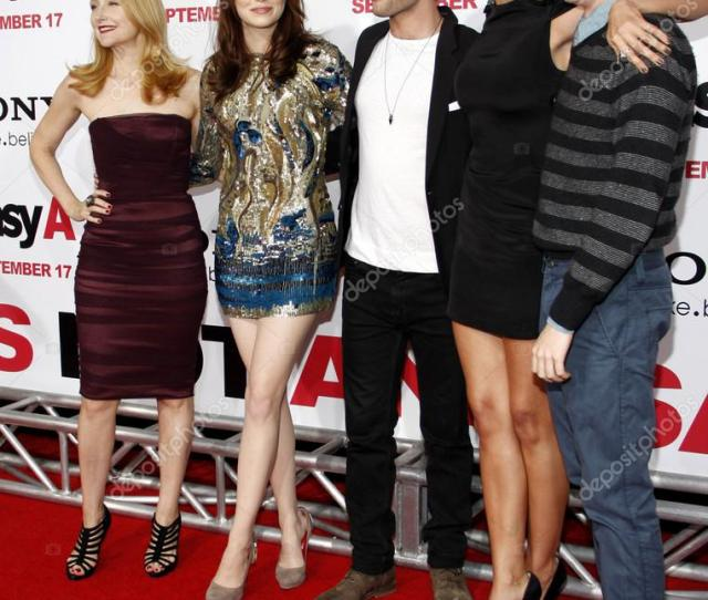 Emma Stone And Cast Of Easy A Stock Photo