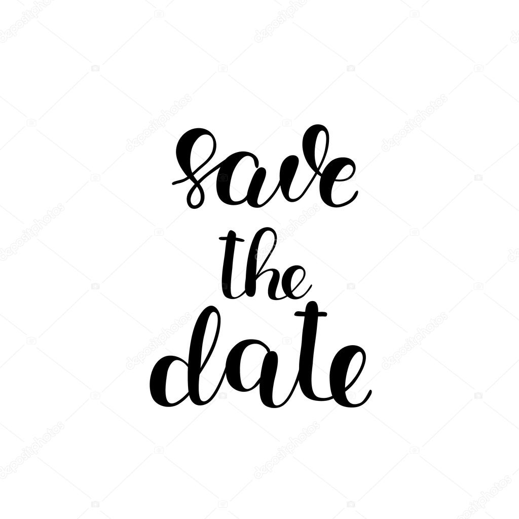 Save The Date Brush Lettering