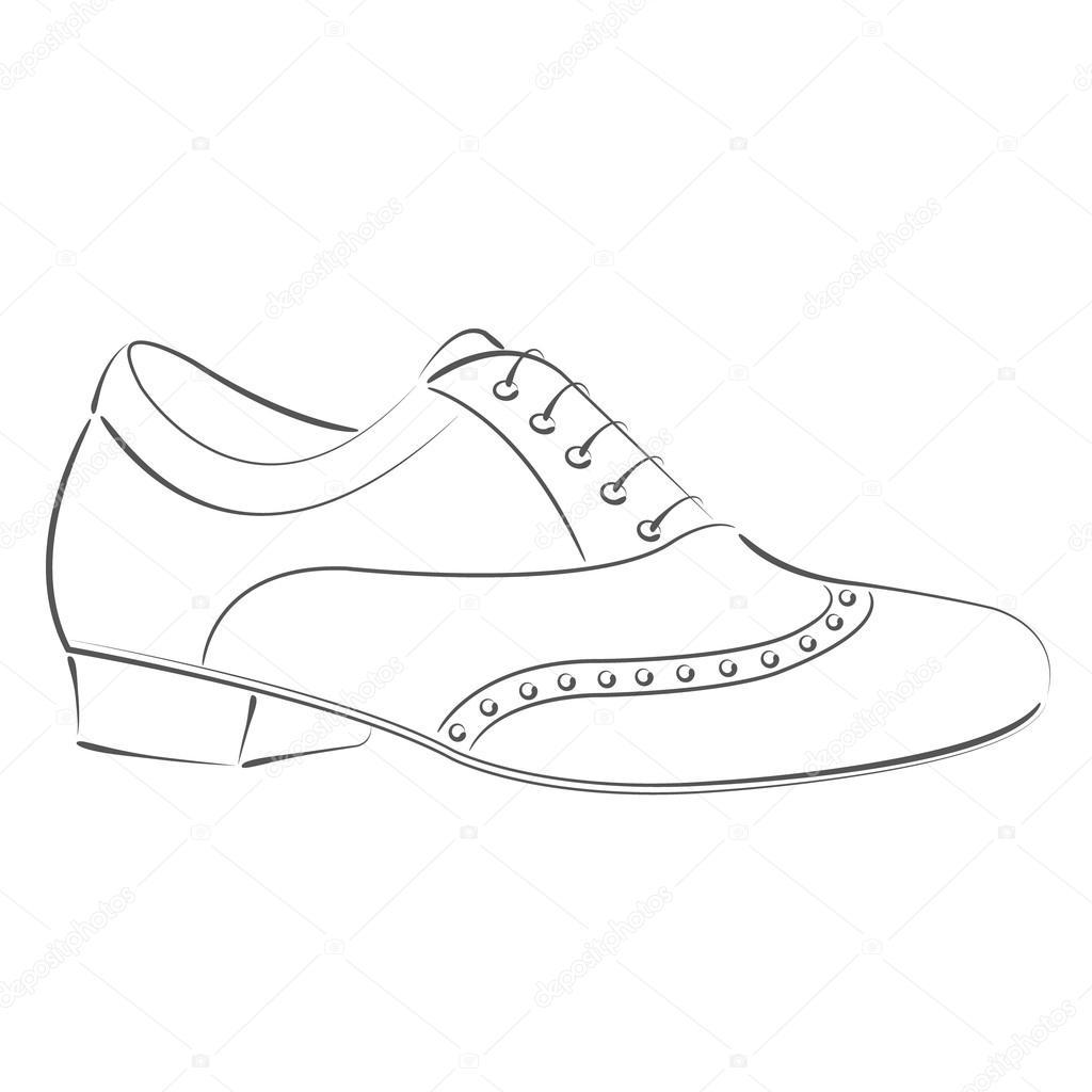 Getekende Man S Schoen