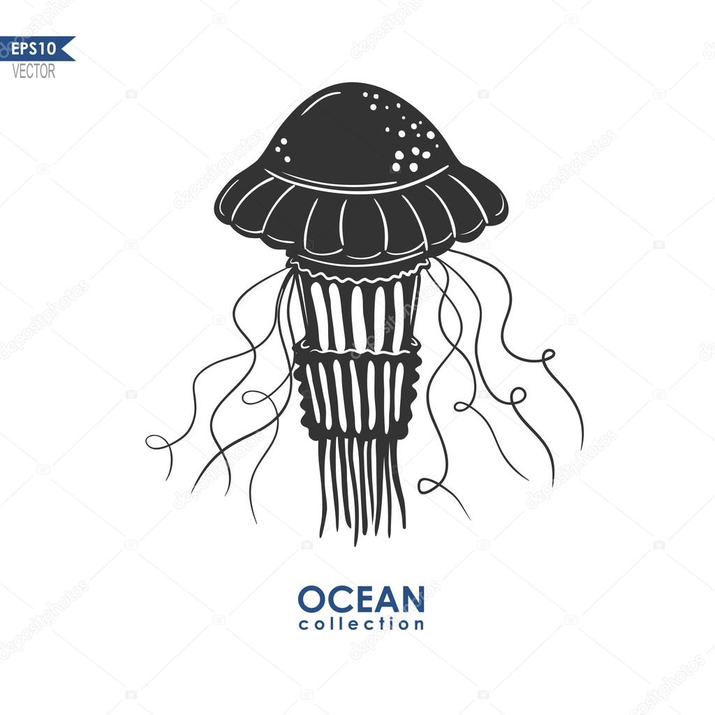 28 Jellyfish Silhouette Vector