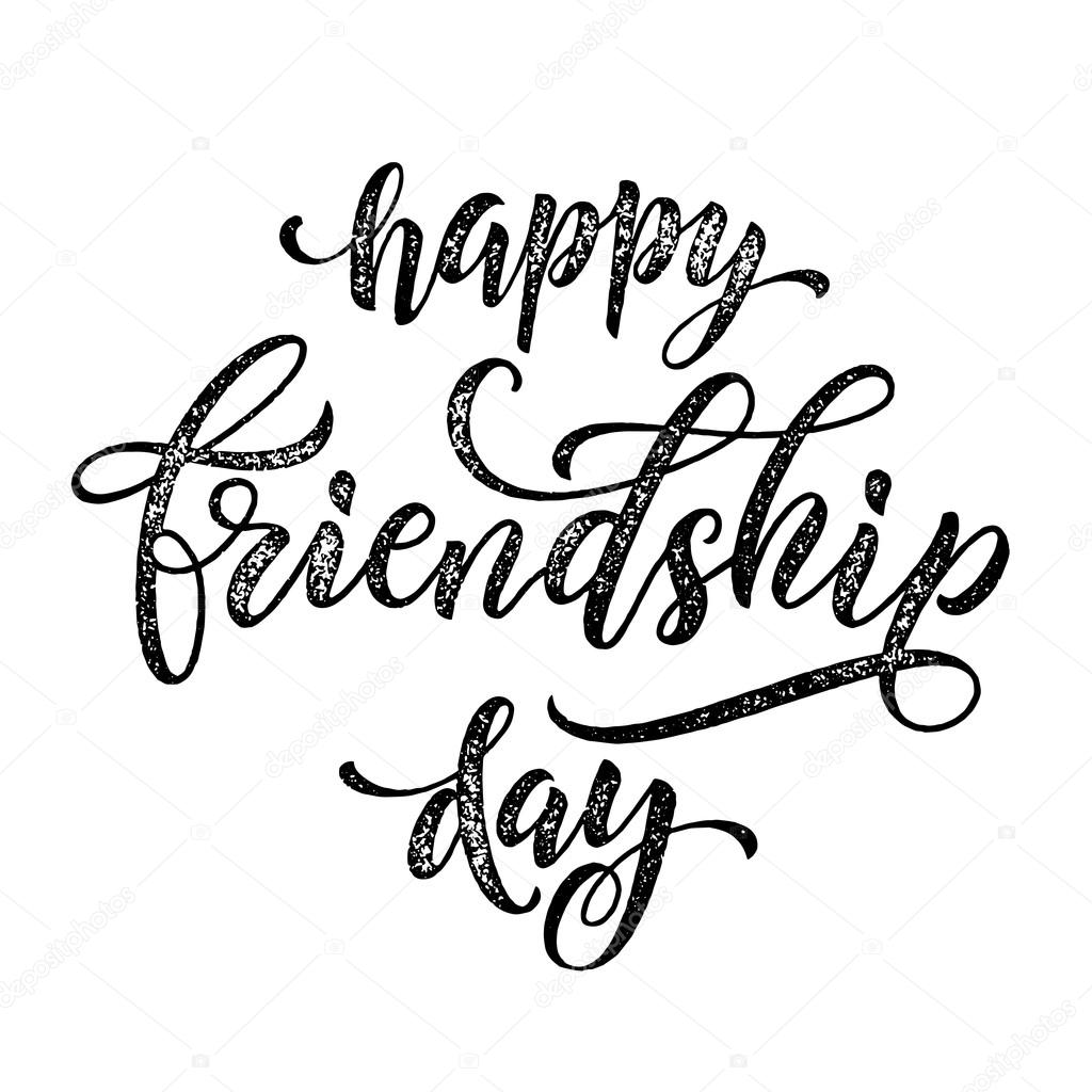 Happy Friendship Day Greeting Card Classic Freehand